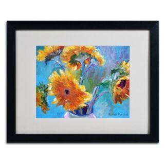 Trademark Fine Art Sunflower 5 Black Framed Wall Art