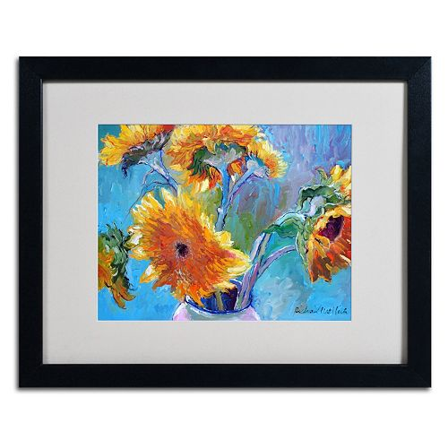 Trademark Fine Art Sunflower 5 Black Framed Wall Art