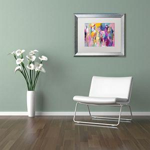 Trademark Fine Art Wild Horse Metallic Framed Wall Art