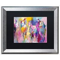 Trademark Fine Art Wild Horse Metallic Framed Wall Art