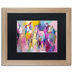 Trademark Fine Art Wild Horse Matted Wood Framed Wall Art