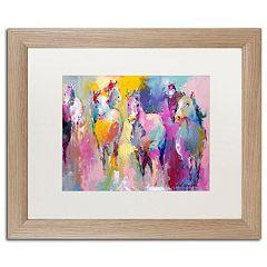 Trademark Fine Art Wild Horse Matted Wood Framed Wall Art