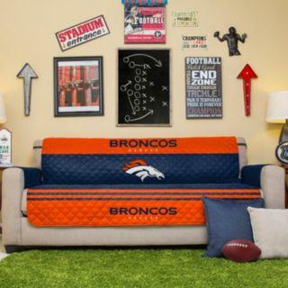 Denver Broncos Quilted Sofa Cover