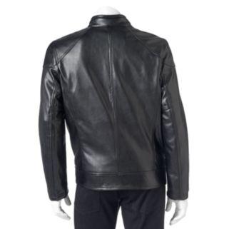 Men's Andrew Marc Faux-Leather Moto Jacket
