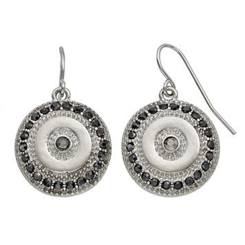 Medallion Disc Nickel Free Drop Earrings