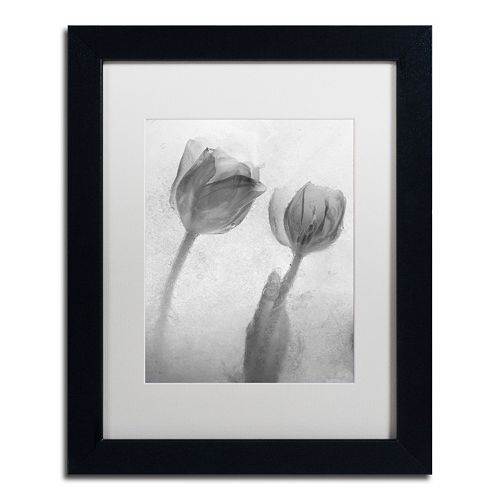 Trademark Fine Art Flowers on Ice-1 Matted Framed Wall Art