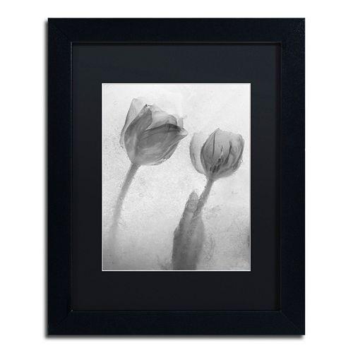 Trademark Fine Art Flowers on Ice-1 Matted Framed Wall Art