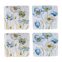 Certified International The Greenhouse Poppies 4-pc. Dinner Plate Set