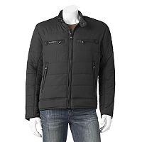 Men's Andrew Marc Matte Shell Moto Jacket