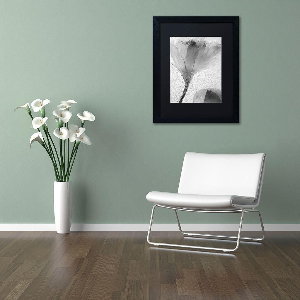 Trademark Fine Art Flowers on Ice-13 Matted Framed Wall Art