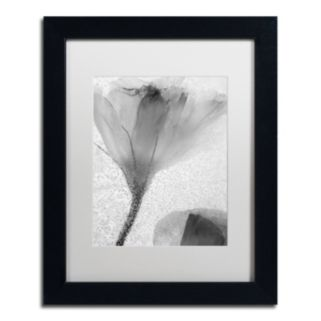 Trademark Fine Art Flowers on Ice-13 Matted Framed Wall Art