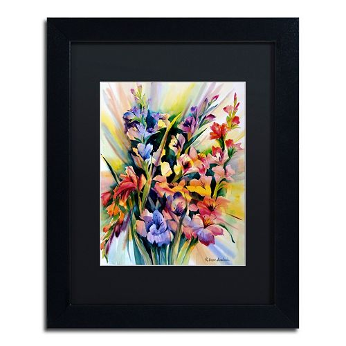 Trademark Fine Art Glad Bursts Matted Framed Wall Art