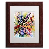 Trademark Fine Art Glad Bursts Framed Wall Art