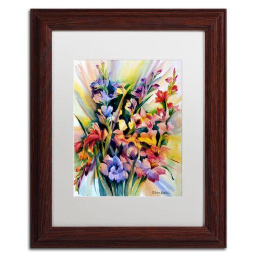 Trademark Fine Art Glad Bursts Framed Wall Art