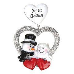 PolarX Ornaments 'Our 1st Christmas' Christmas Ornament