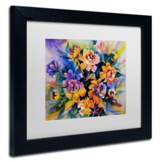 Trademark Fine Art Peonie Burst Matted Framed Wall Art