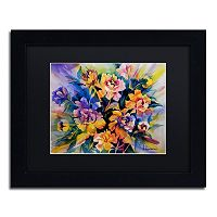 Trademark Fine Art Peonie Burst Matted Framed Wall Art