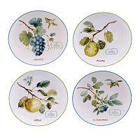Certified International The Greenhouse Fruit 4-pc. Dessert Plate Set