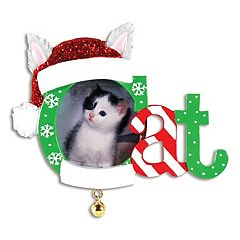 PolarX Ornaments 1.5' x 1.5' 'Cat' Photo Holder Christmas Ornament