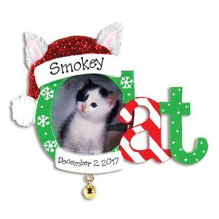"PolarX Ornaments 1.5"" x 1.5"" ""Cat"" Photo Holder Christmas Ornament"