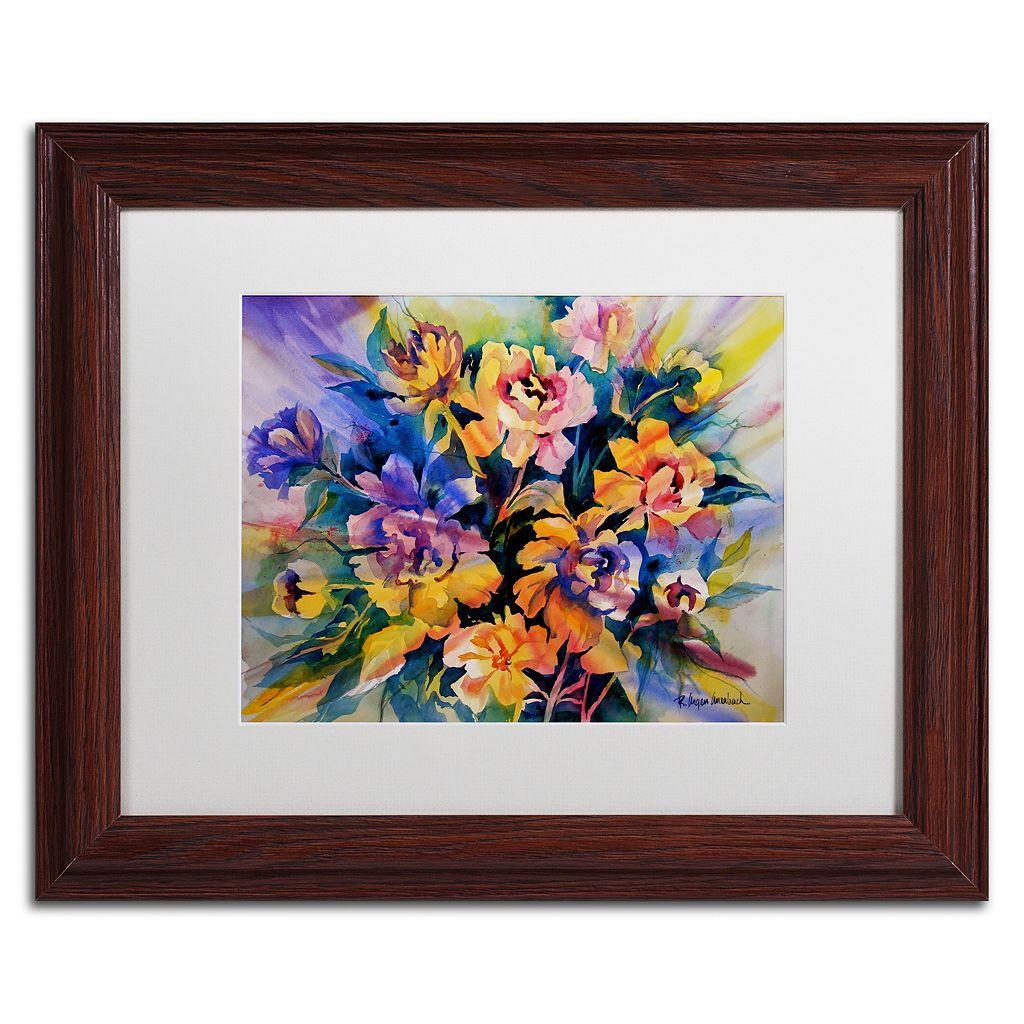 Trademark Fine Art Peonie Burst Framed Wall Art
