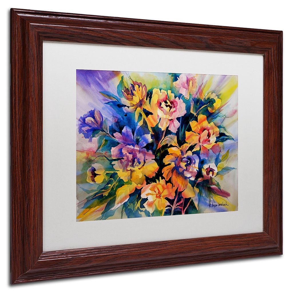 Trademark Fine Art Peonie Burst Framed Wall Art