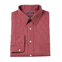 Big & Tall Croft & Barrow® Fitted Checked Dress Shirt