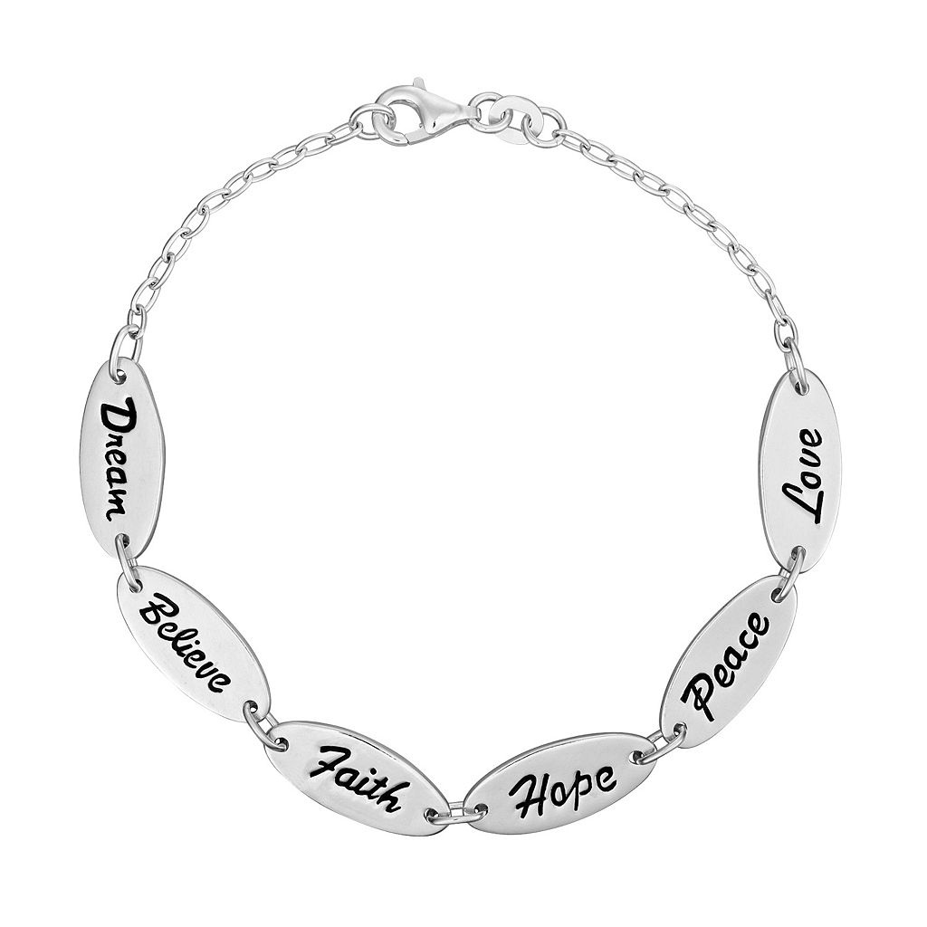 Sterling Silver Inspirational Bracelet