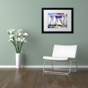 Trademark Fine Art Regatta Matted Framed Wall Art