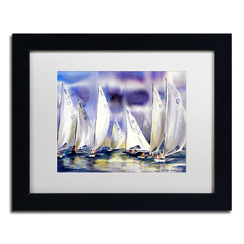 Trademark Fine Art Regatta Matted Framed Wall Art