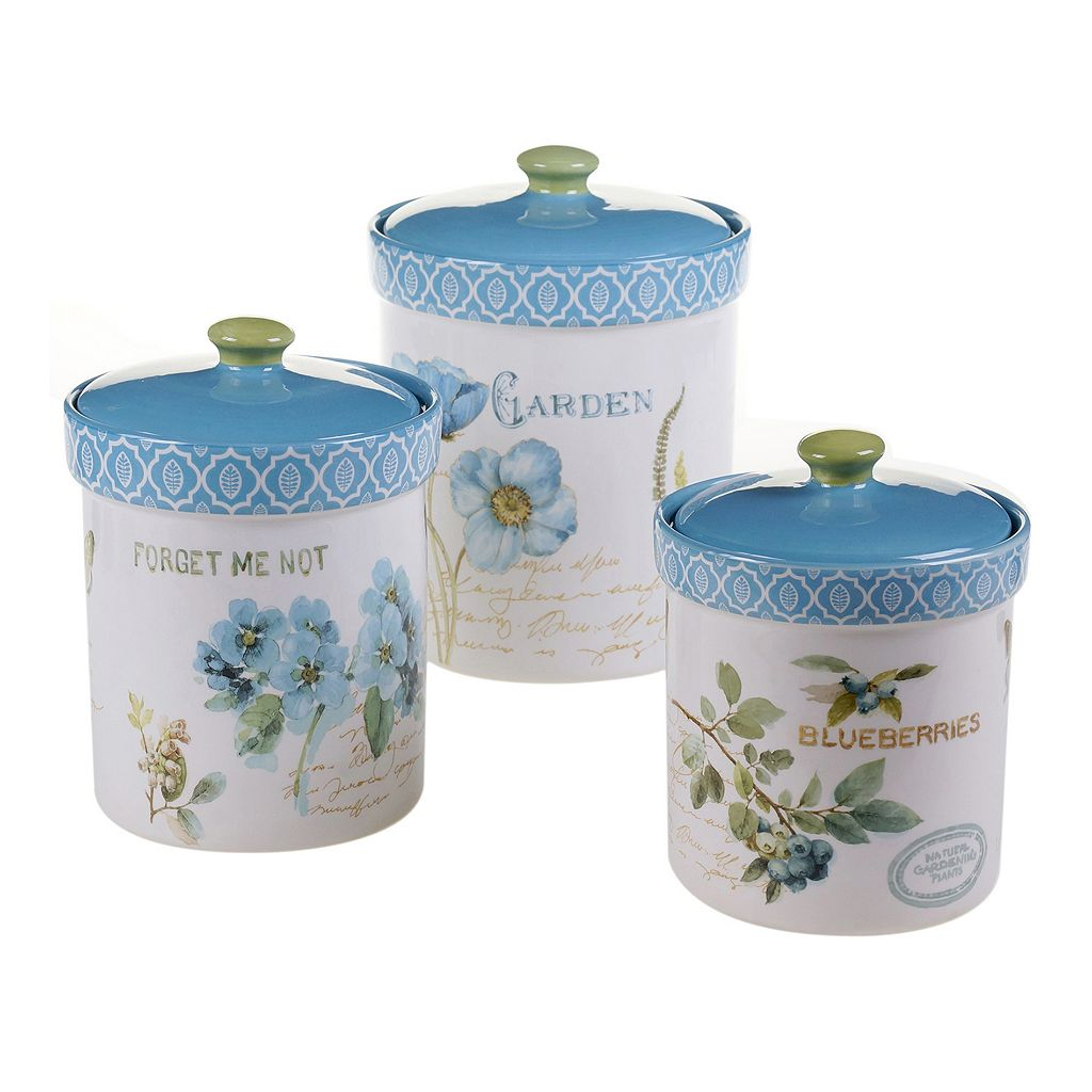 Certified International The Greenhouse 3-pc. Ceramic Canister Set