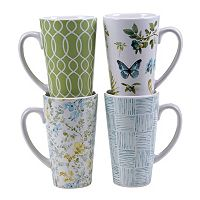 Certified International The Greenhouse 4 pc Latte Mug Set