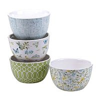 Certified International The Greenhouse 4 pc Bowl Set