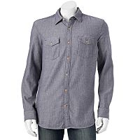 Men's SONOMA Goods for Life™ Modern-Fit Herringbone Button-Down Shirt