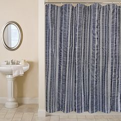 Seersucker Bands Shower Curtain
