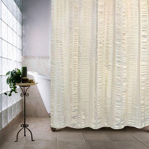 Seersucker Bands Shower Curtain