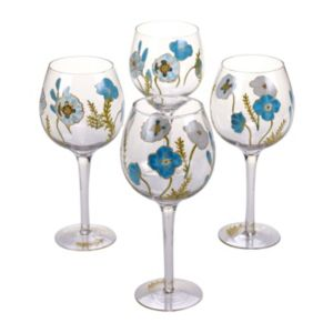 Certified International The Greenhouse 4-pc. Hand Painted Wine Glass Set