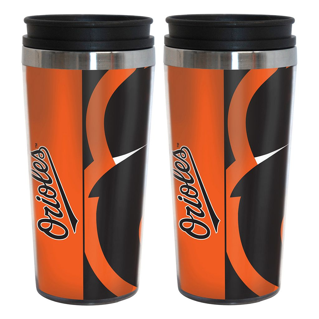 Baltimore Orioles 2-Pack Hype Travel Tumblers