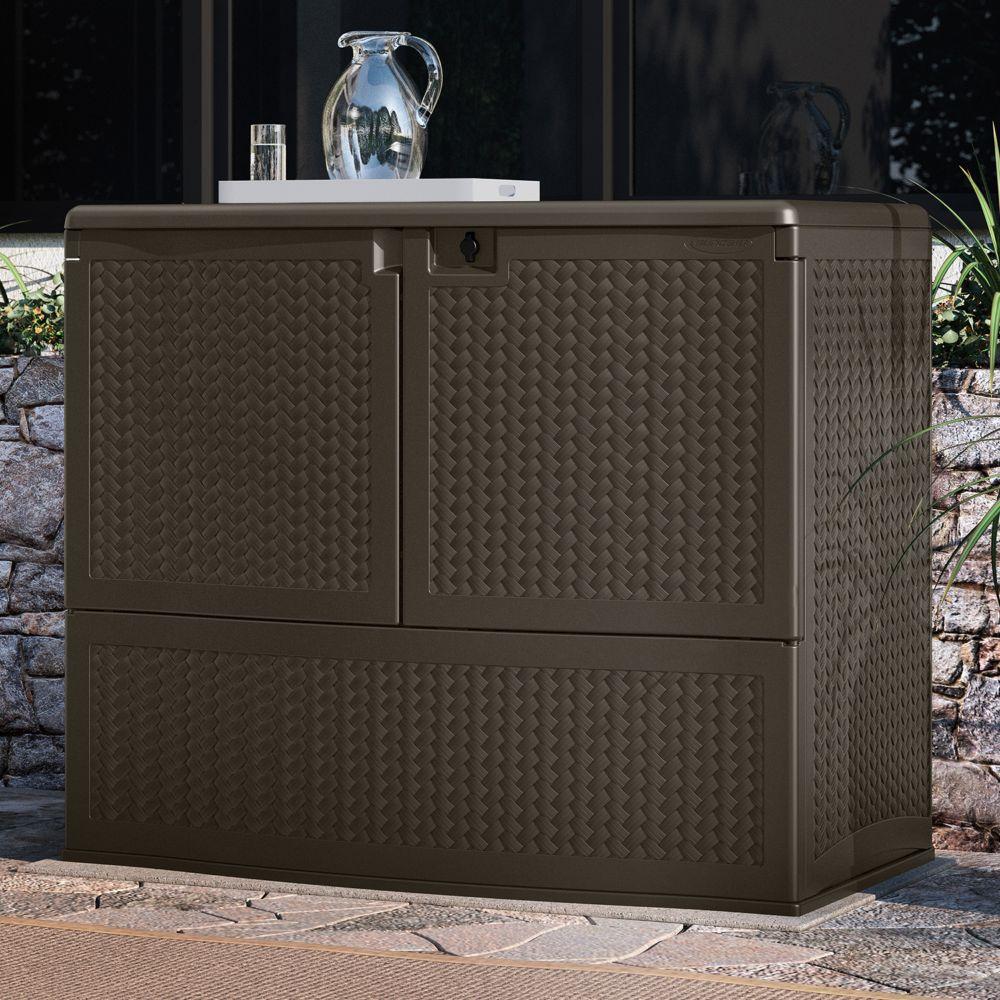 backyard oasis storage & entertaining station