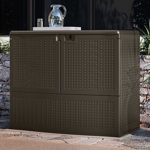 - Suncast Backyard Oasis Storage & Entertaining Station