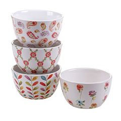Certified International Rainbow Seeds 4-pc. Bowl Set
