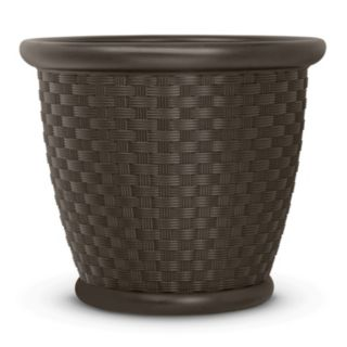 "Suncast Sonora 18"" Resin Wicker Planter 2-piece Set"