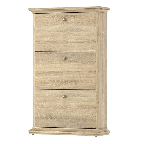 Tvilum Sonoma 3-Drawer Oak Finish Shoe Cabinet