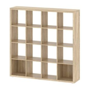 Tvilum Demi 16-Cubby Oak Finish Bookshelf