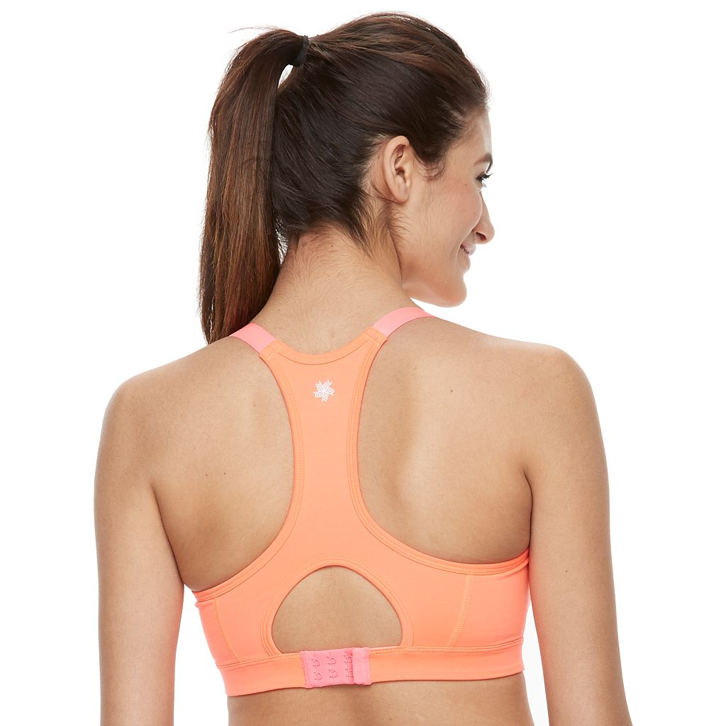Tek Gear® Bras: Keyhole Racerback Medium-Impact Sports Bra