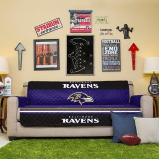 Baltimore Ravens Quilted Sofa Cover
