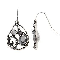 Apt. 9® Openwork Teardrop Earrings