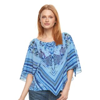 Women's World Unity Embellished Popover Top