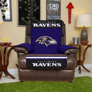 Baltimore Ravens Quilted Recliner Chair Cover