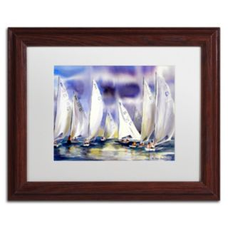 Trademark Fine Art Regatta Framed Wall Art